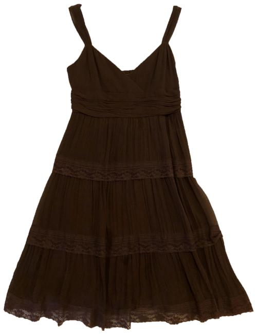 Preload https://img-static.tradesy.com/item/26411965/bcbgmaxazria-brown-bcbg-short-cocktail-dress-size-6-s-0-1-650-650.jpg