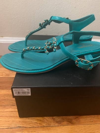 Chanel green Sandals Image 1