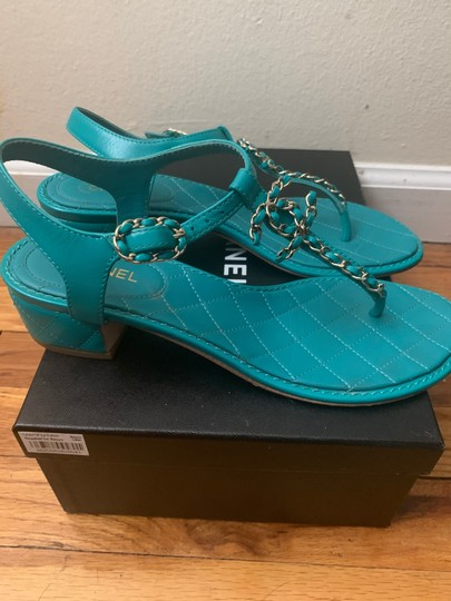 Chanel green Sandals Image 2