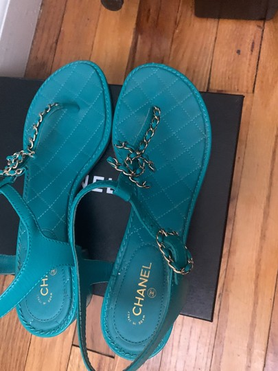 Chanel green Sandals Image 4