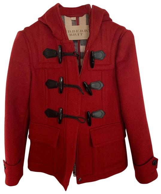 Preload https://img-static.tradesy.com/item/26412000/burberry-brit-red-wool-coat-size-2-xs-0-2-650-650.jpg