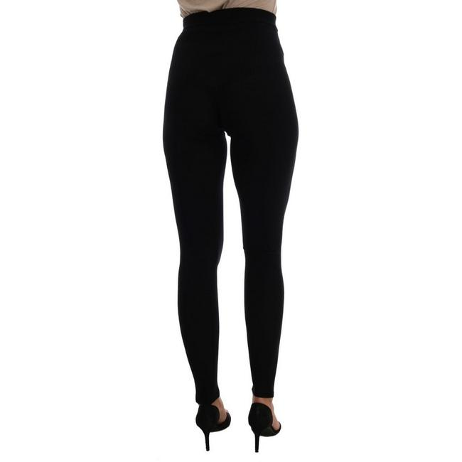 Dolce&Gabbana Women's Cashmere Stretch Tights D201-2 Black Leggings Image 2