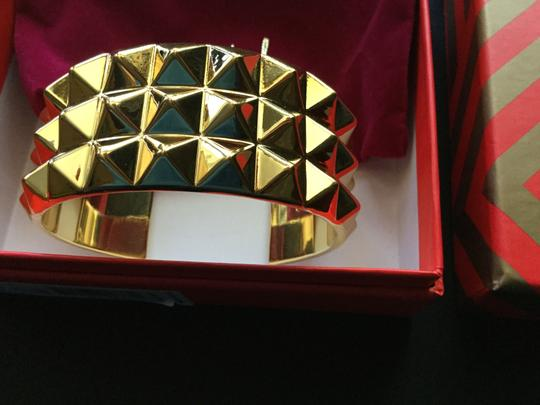 Waterford Waterford Rebel: Ella Triple Row Cuff Bracelet, Gold Studs. Image 1