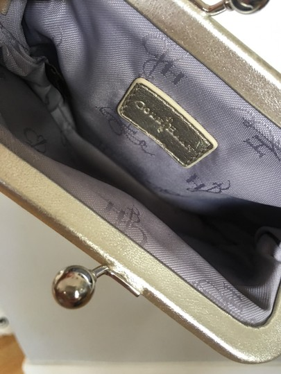 Cole Haan Evening Night Out White Gold Baguette Silver Clutch Image 3