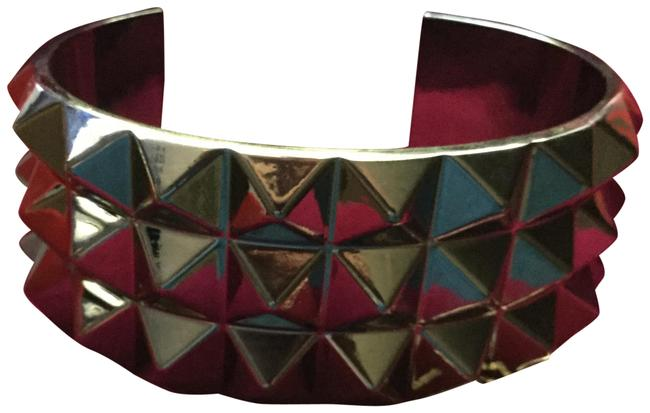 Item - Black Rebel: Ella Triple Row Cuff Gunmetal Studs. Bracelet