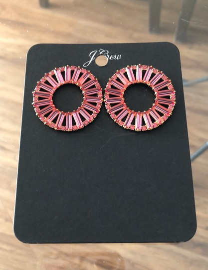 J.Crew Bagett Crystals Round Post Earrings Image 1