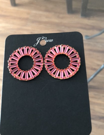 J.Crew Bagett Crystals Round Post Earrings Image 3