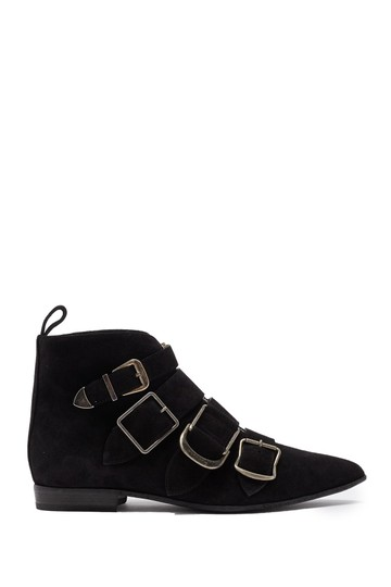 Burberry Heel Wedge BLACK LEATHER Boots Image 1