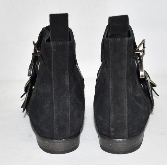 Burberry Heel Wedge BLACK LEATHER Boots Image 2