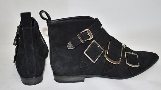 Burberry Heel Wedge BLACK LEATHER Boots Image 3