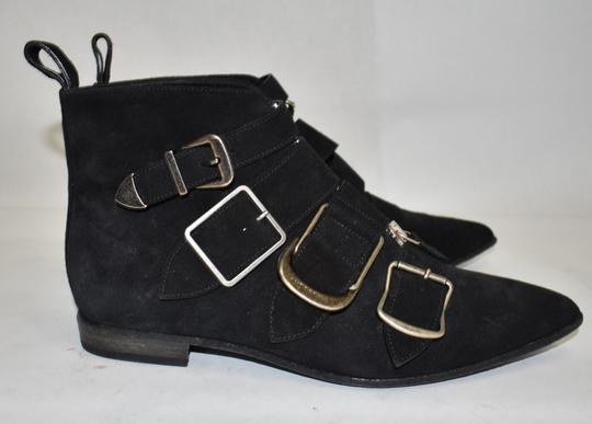 Burberry Heel Wedge BLACK LEATHER Boots Image 7