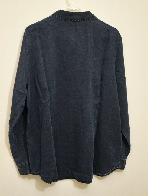 Soft Surroundings Relaxed Fit Shirt Jacket Tencel Button Front Tunic Image 2
