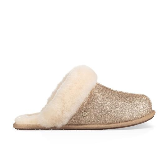 Preload https://img-static.tradesy.com/item/26412100/ugg-australia-gold-scuffette-ii-sparkle-genuine-shearling-slipper-mulesslides-size-us-7-regular-m-b-0-0-540-540.jpg
