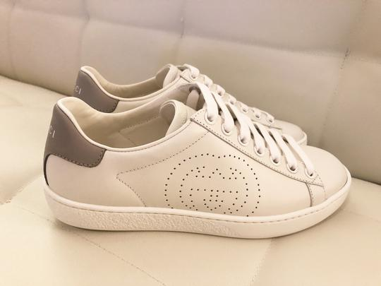 Gucci Ace Sneaker Gg White and gray Athletic Image 2