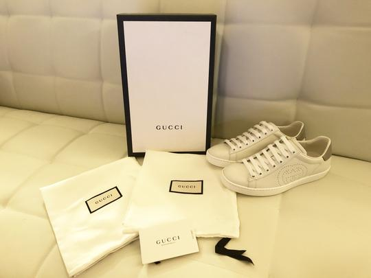 Gucci Ace Sneaker Gg White and gray Athletic Image 1