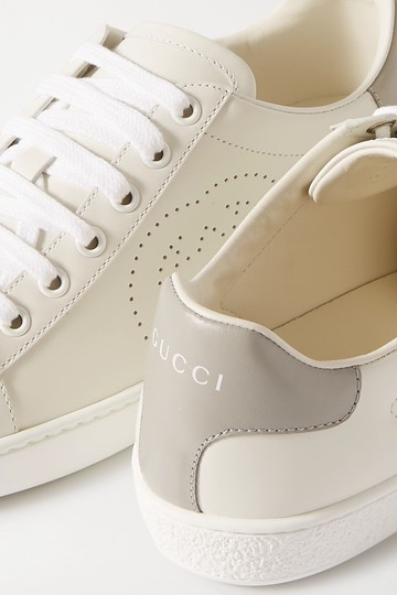 Gucci Ace Sneaker Gg White and gray Athletic Image 10