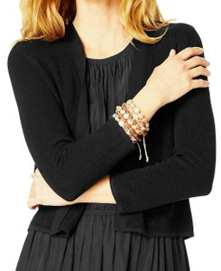 J. Jill Relaxed Fit Crop Cardigan Boucle Open Front Textured Sweater