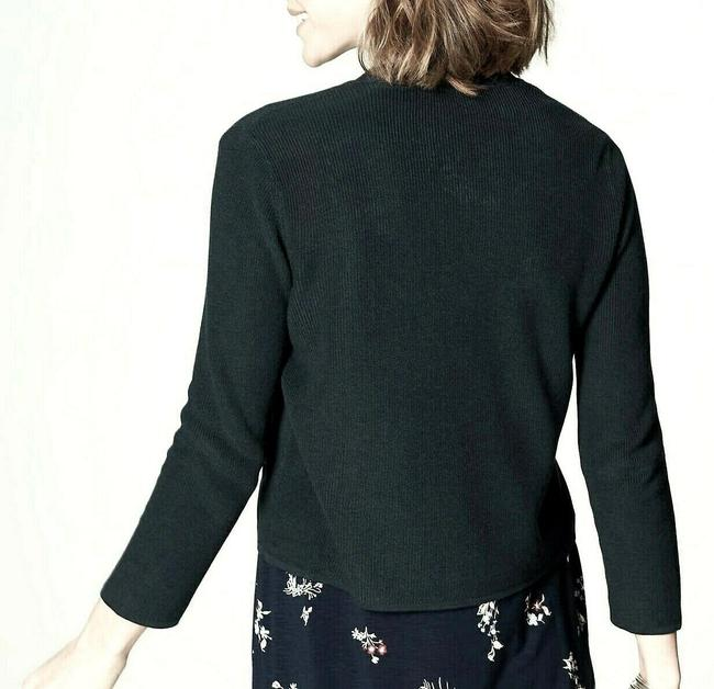 J. Jill Relaxed Fit Crop Cardigan Boucle Open Front Textured Sweater Image 1