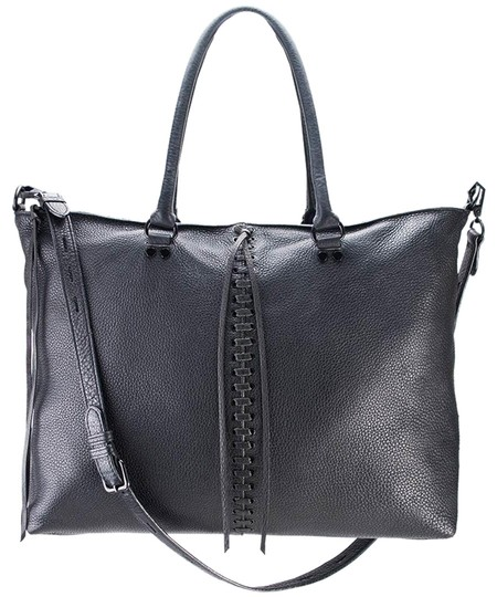 Rebecca Minkoff Pebbled Leather Tassel Tote in Black Image 0