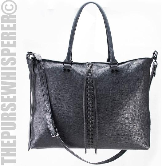 Rebecca Minkoff Pebbled Leather Tassel Tote in Black Image 1