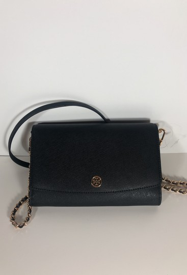 Tory Burch Robinson Leather Wallet Chain Cross Body Bag Image 1