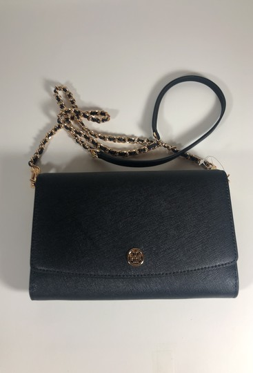 Tory Burch Robinson Leather Wallet Chain Cross Body Bag Image 3