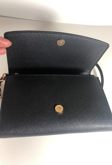 Tory Burch Robinson Leather Wallet Chain Cross Body Bag Image 7