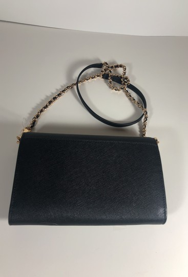 Tory Burch Robinson Leather Wallet Chain Cross Body Bag Image 8