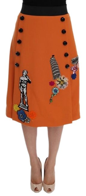 Preload https://img-static.tradesy.com/item/26412276/dolce-and-gabbana-orange-d1009-1-women-s-wool-crystal-sequin-appliques-skirt-size-2-xs-26-0-1-650-650.jpg