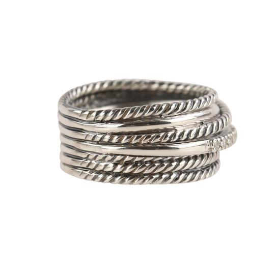 David Yurman David Yurman Crossover Diamond Ring Image 1