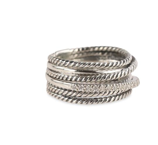 David Yurman David Yurman Crossover Diamond Ring Image 3