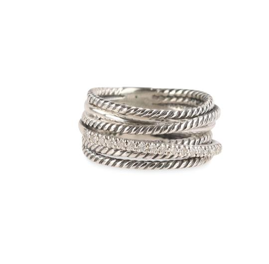 David Yurman David Yurman Crossover Diamond Ring Image 4