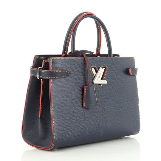 Louis Vuitton Leather Tote in blue Image 1