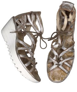 FLY London gold Sandals