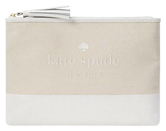 Preload https://img-static.tradesy.com/item/26412392/kate-spade-natural-clutch-ash-street-logo-large-tassel-pouch-bag-purse-wallet-0-2-540-540.jpg
