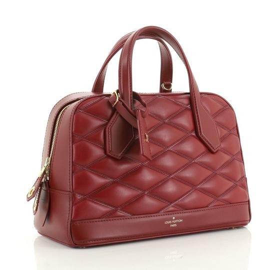 Louis Vuitton Leather Satchel in red Image 1
