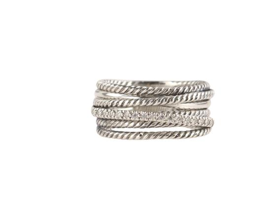 Preload https://img-static.tradesy.com/item/26412408/david-yurman-silver-wide-crossover-with-diamonds-ring-0-2-540-540.jpg