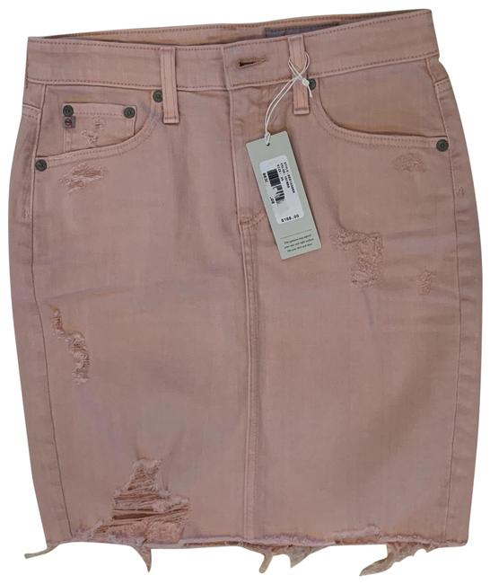 Preload https://img-static.tradesy.com/item/26412418/ag-adriano-goldschmied-pink-distressed-jean-skirt-size-2-xs-26-0-1-650-650.jpg