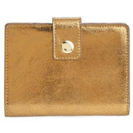 J.Crew Gold metallic leather passport holder Image 2