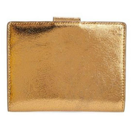 J.Crew Gold metallic leather passport holder Image 3