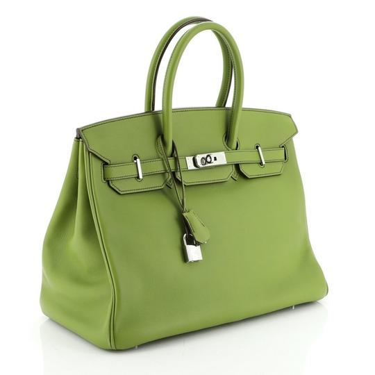 Hermes Leather Satchel in green Image 1
