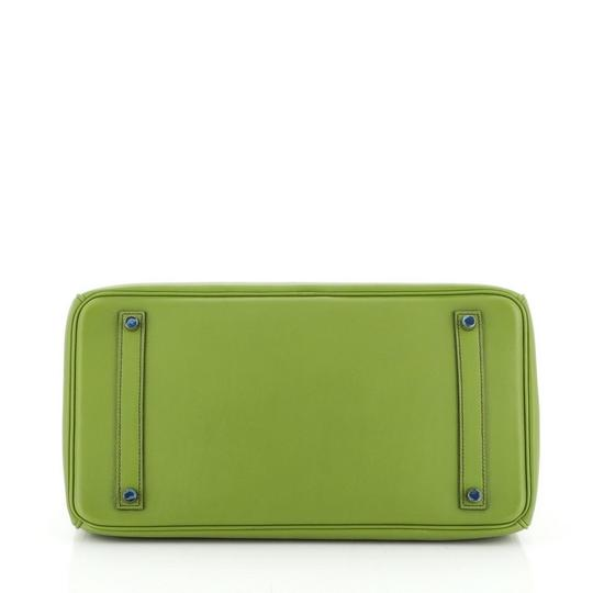 Hermes Leather Satchel in green Image 3
