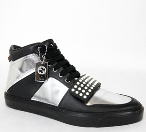 Gucci Silver/Black Men's High-top Sneaker Limited Edition 376194 1064 Size 9.5 G / Us 10 Shoes