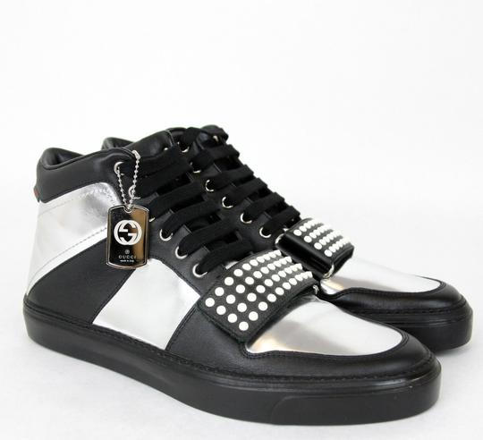 Gucci Silver/Black Men's High-top Sneaker Limited Edition 376194 1064 Size 9.5 G / Us 10 Shoes Image 3