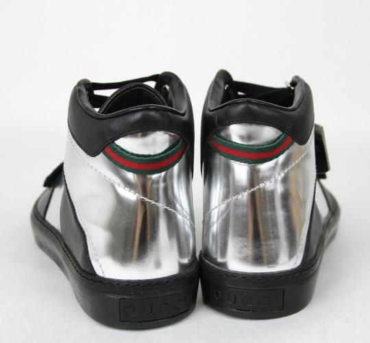 Gucci Silver/Black Men's High-top Sneaker Limited Edition 376194 1064 Size 9.5 G / Us 10 Shoes Image 4
