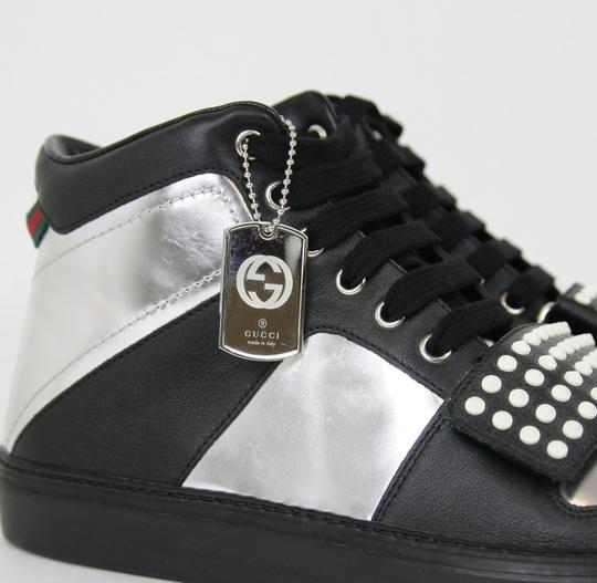 Gucci Silver/Black Men's High-top Sneaker Limited Edition 376194 1064 Size 9.5 G / Us 10 Shoes Image 6