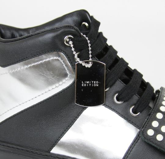 Gucci Silver/Black Men's High-top Sneaker Limited Edition 376194 1064 Size 9.5 G / Us 10 Shoes Image 7