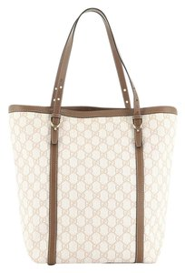Gucci Canvas Tote in brown and neutral