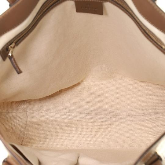 Gucci Canvas Tote in brown and neutral Image 4