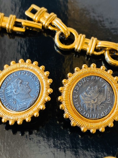 Carolee carolee bvlgari style coin necklace and earrings Image 2